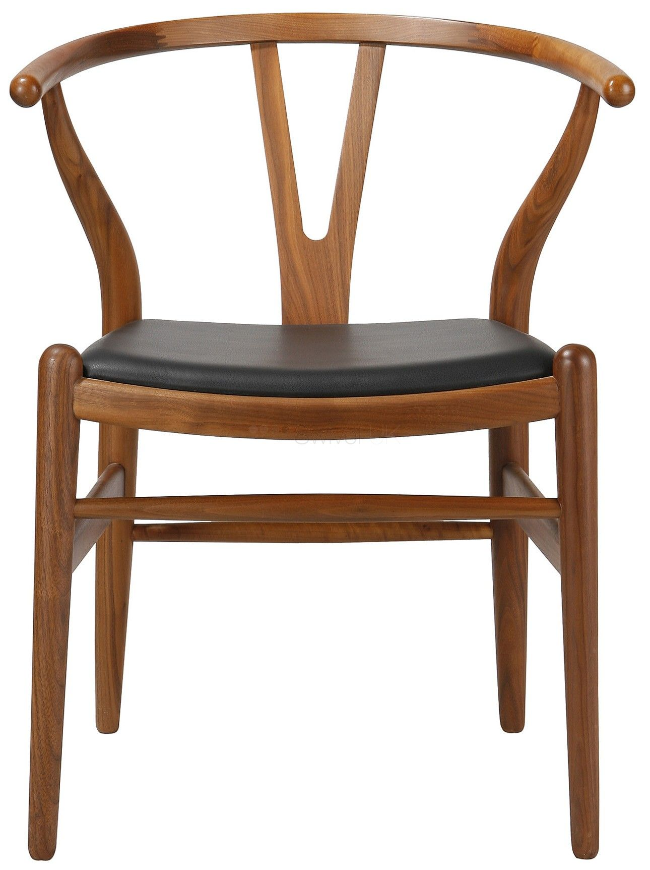 hans j wegner style ch24 wishbone y dining chair leather pad style