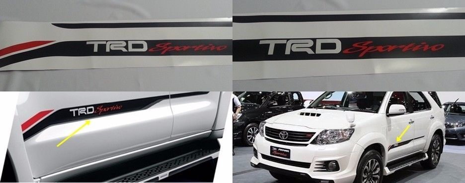 Trd Sportivo Toyota Fortuner Vigo Sticker Side Door Racing