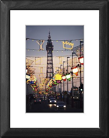blackpool tower and illuminations blackpool lancashire england. Image Copyright © Purcell-Holmes Watermarking and Website Address do not appear on finished products Printed items are produced from higher quality original artwork