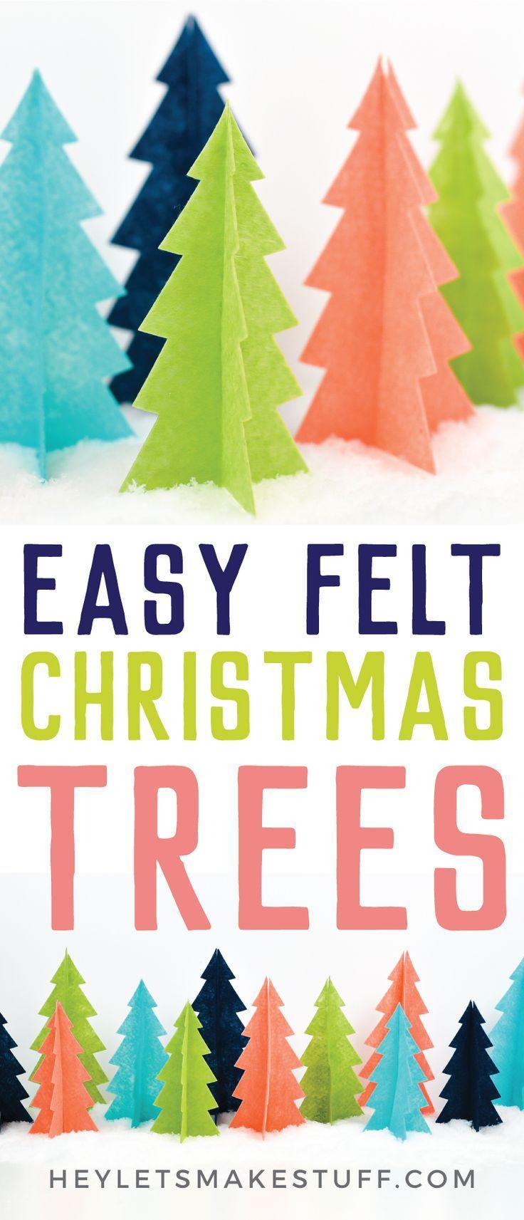Easy Easy Felt Christmas Trees with the Cricut Maker - Beginner Cricut Project