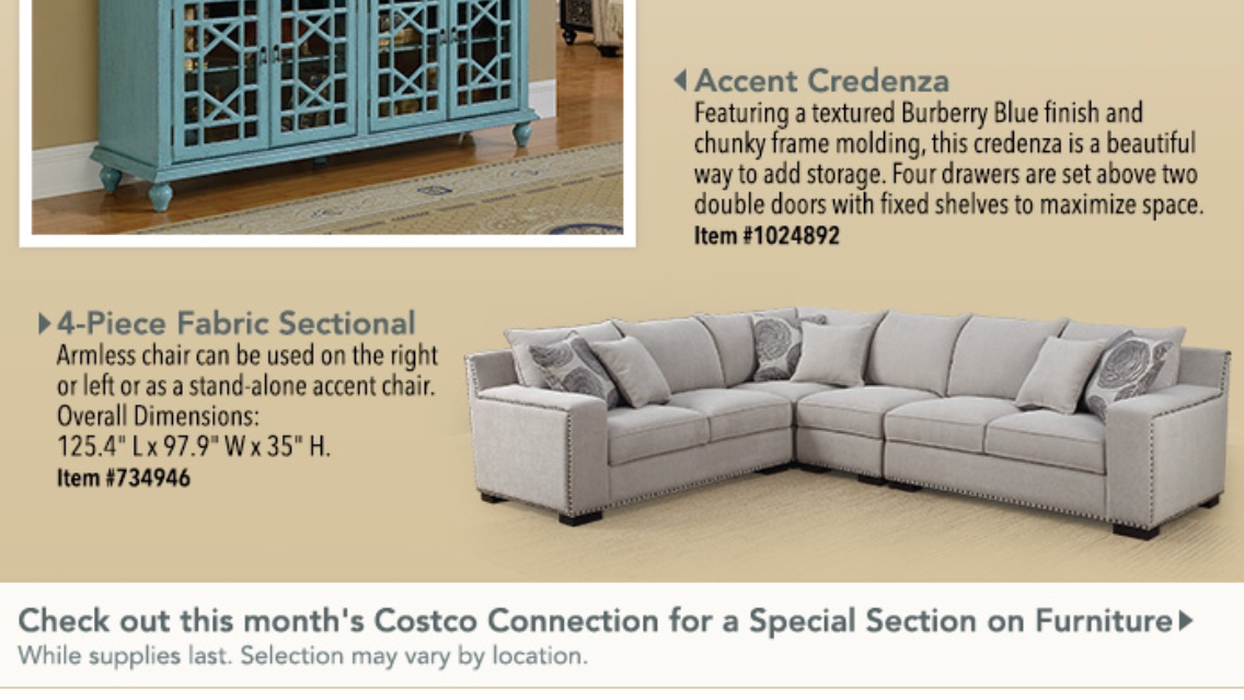 Costco Sectional Sofa Available In Store After July 4 2016 Costco Sectional Sectional Fabric Sectional