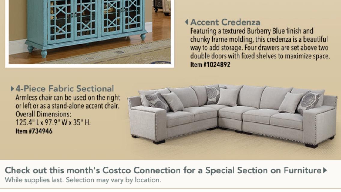 Costco Sectional Sofa With Nailhead $1199