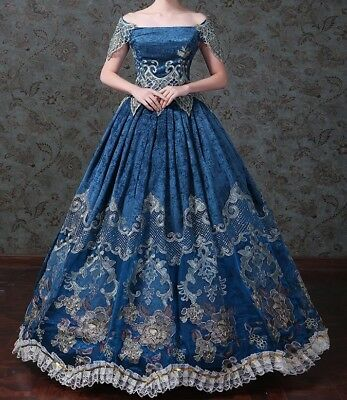 17th 18th century Renaissance Vintage Dress Ball Gown Victorian theater Costume