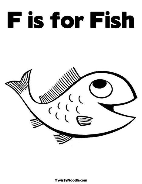 F is for fish // this site is AWESOME | Fish coloring page ...
