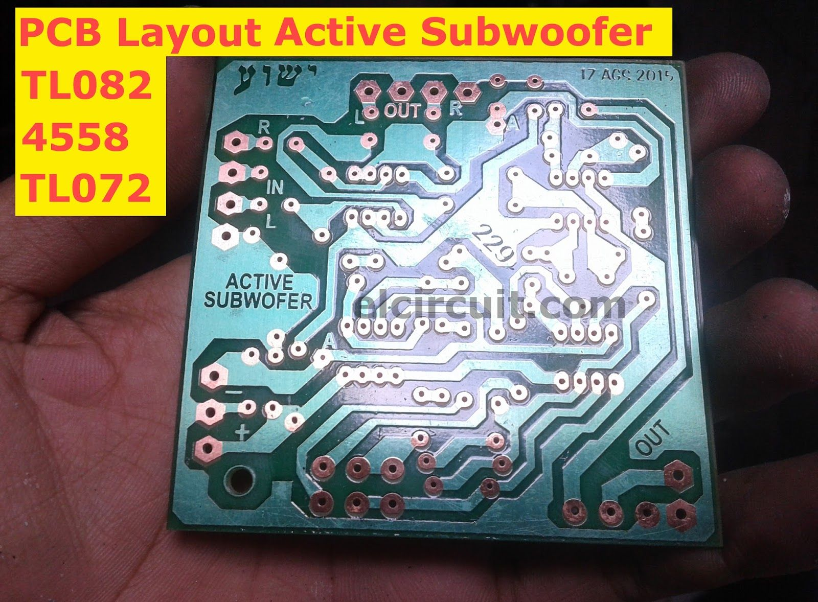 Active Subwoofer Circuit Tl082 Tl072 4558 Ic4558 Pinterest Diagram Pcb Circuits Filters Audio Layout Design