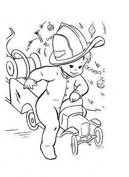 Billy Rides His Fire Truck | Merry christmas coloring ...