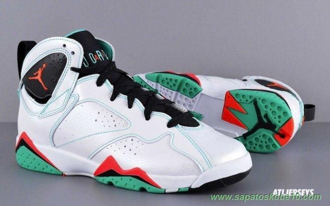 the latest 267fc e1546 ... closeout tenis de marca barato branco verde air jordan 7 retro 705417  138 verde masculino 1967e