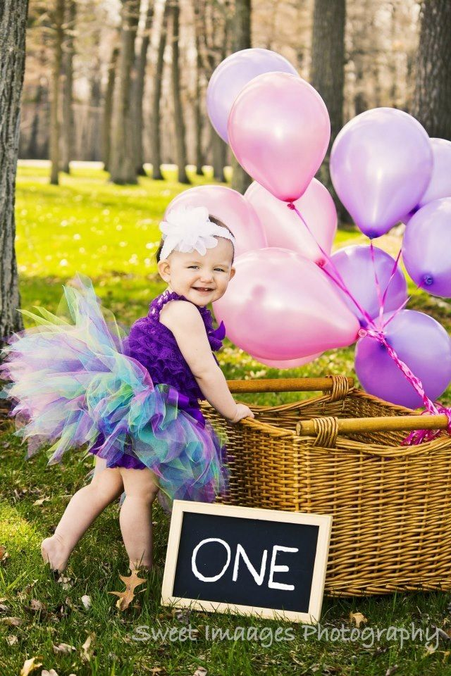 Little Girls First Birthday Photo Shoot Idea With