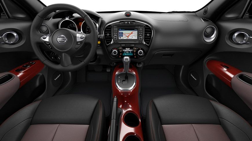 2017 Nissan Juke Sl Interior Shown In Black Red Leather With Red Interior Accessories Nissan Juke Nissan Juke Accessories Nissan Juke Interior