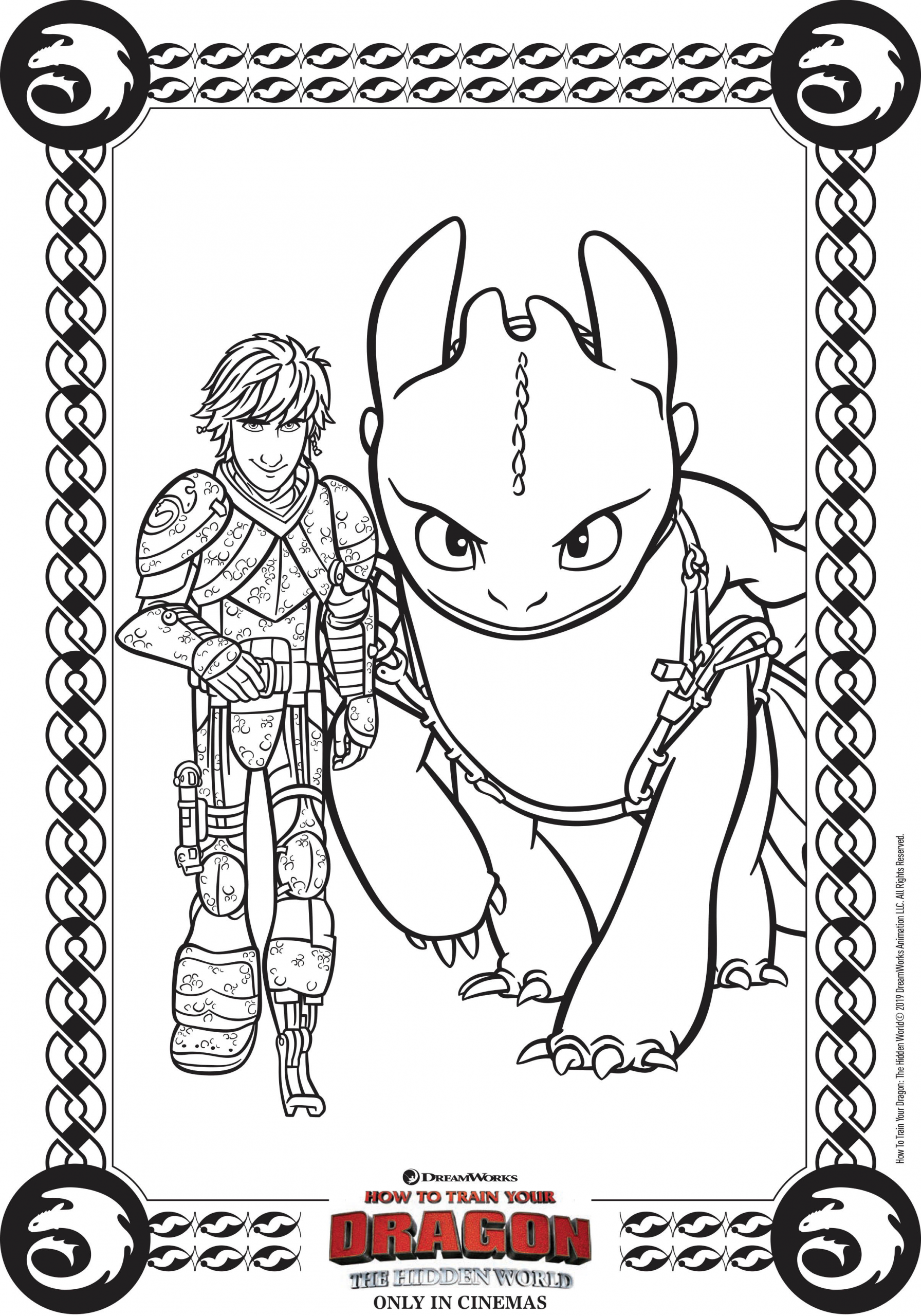 How To Train Your Dragon 3 Coloring Page Youngandtae Com In 2020 Dragon Coloring Page How Train Your Dragon Cute Toothless