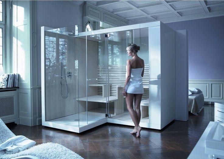 Moderne badkamers kenmerken zich door strakke lijnen, veel hoogglans ...