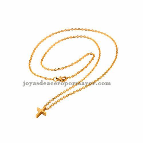 dije de cruz con cadena fino de moda para mujer -SSNEG001384