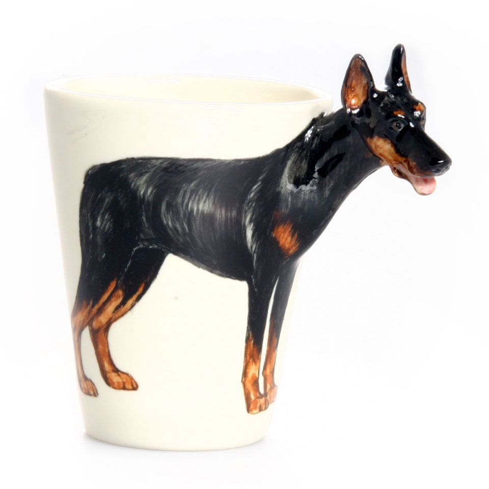 Pup On A Cup Doberman Small Mug Beyond The Rack Dobermann