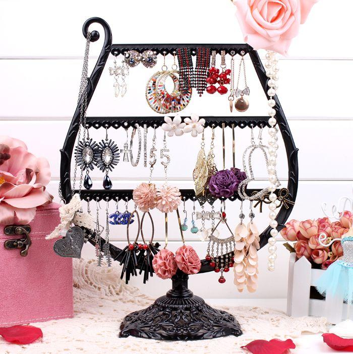 Cup earring show black Jewellery show shelf earring holder jewellery