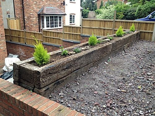 Railway sleepers in the garden szukaj w google ogr d for Garden designs with railway sleepers