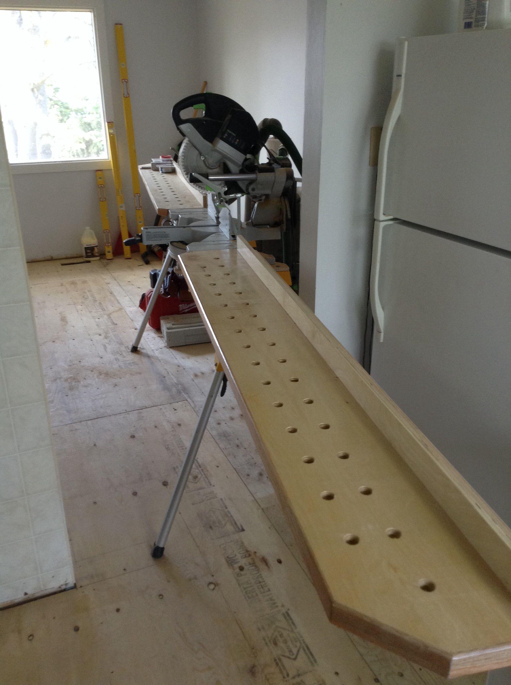 7 mitre saw stand woodwork. Black Bedroom Furniture Sets. Home Design Ideas