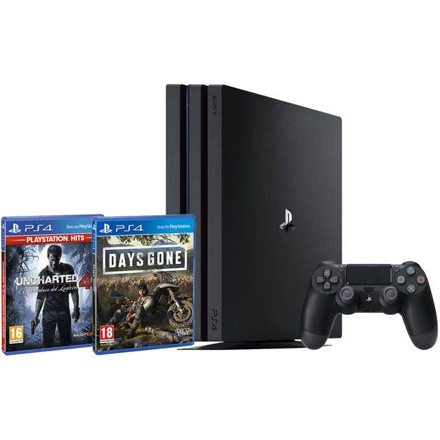 Consola Ps4 Pro Chasis B De 1 Tb Days Gone Ps4 Uncharted 4