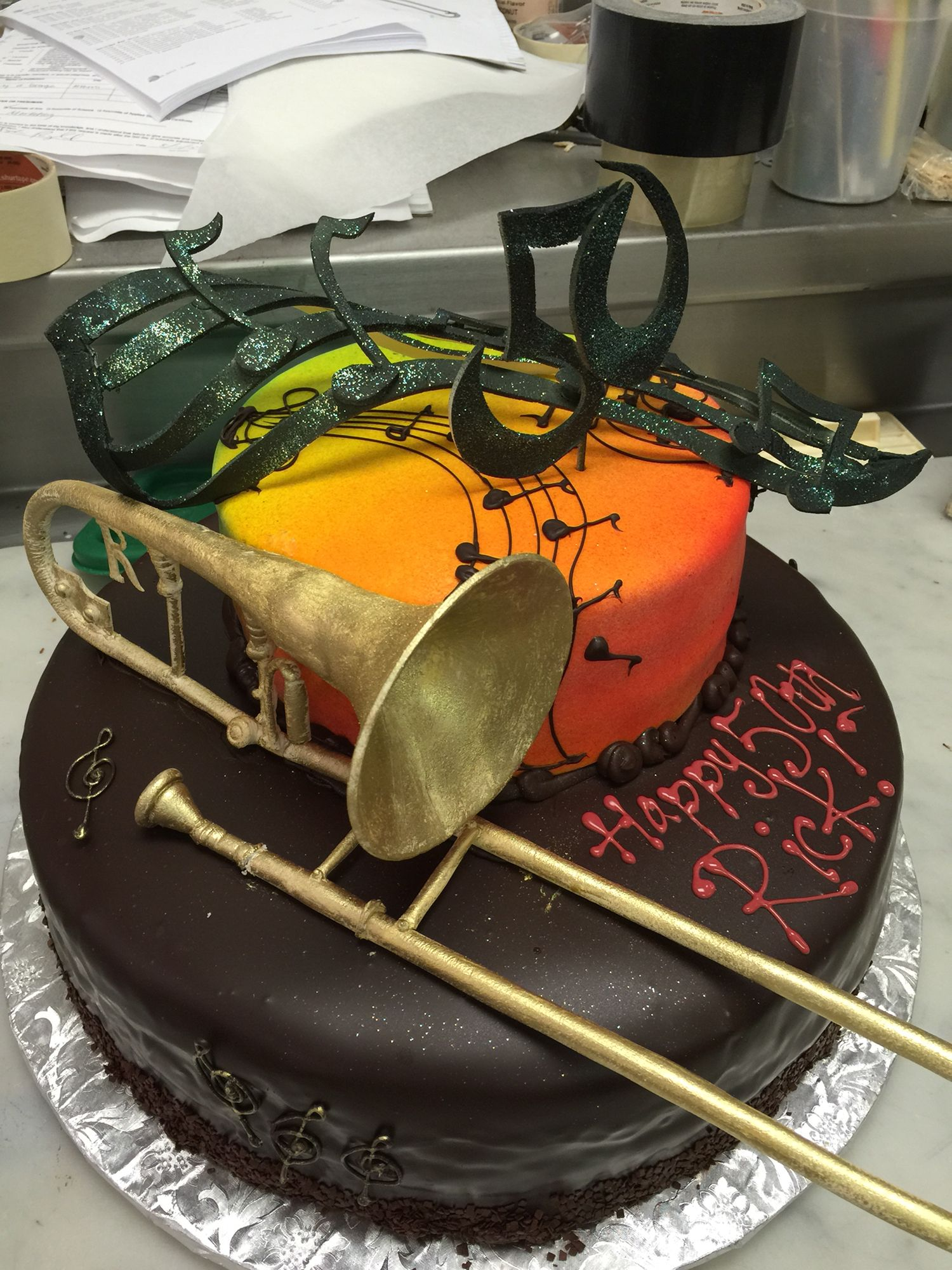 Trombone Cake 50th Birthday Cakes Pinterest