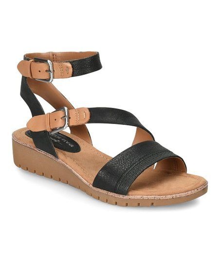7580c3593 Comfortiva by Söfft Black   Sand Corvina Leather Sandal - Women ...