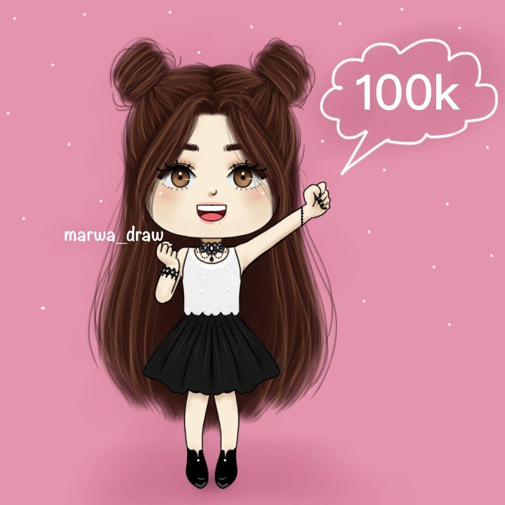 وصلنا 100 الف مشترك واااو Art Girl Cute Love Cartoons Girly M