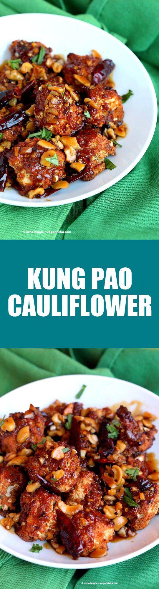 Crispy Kung Pao Cauliflower.