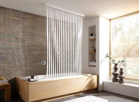 Duschvorhang Flexible Losung Fur Badewanne Dusche Duschvorhang Duschrollo Dusche