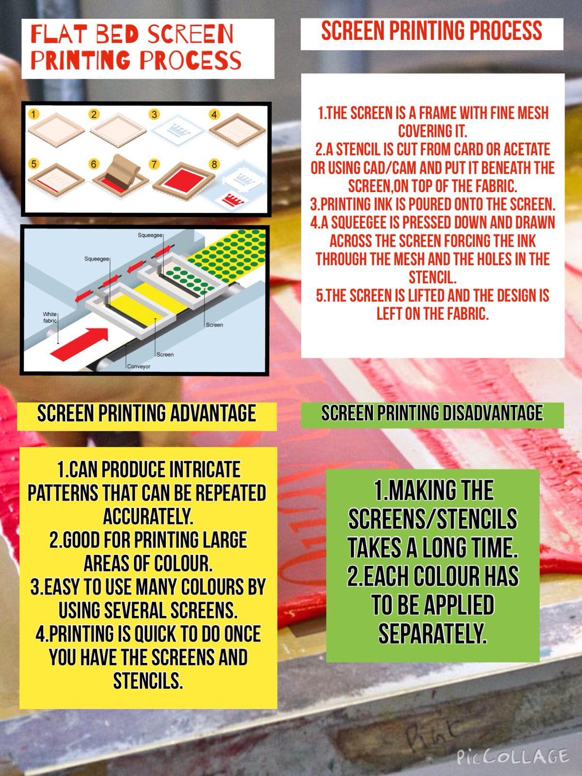Flat Bed Screen Printing Process