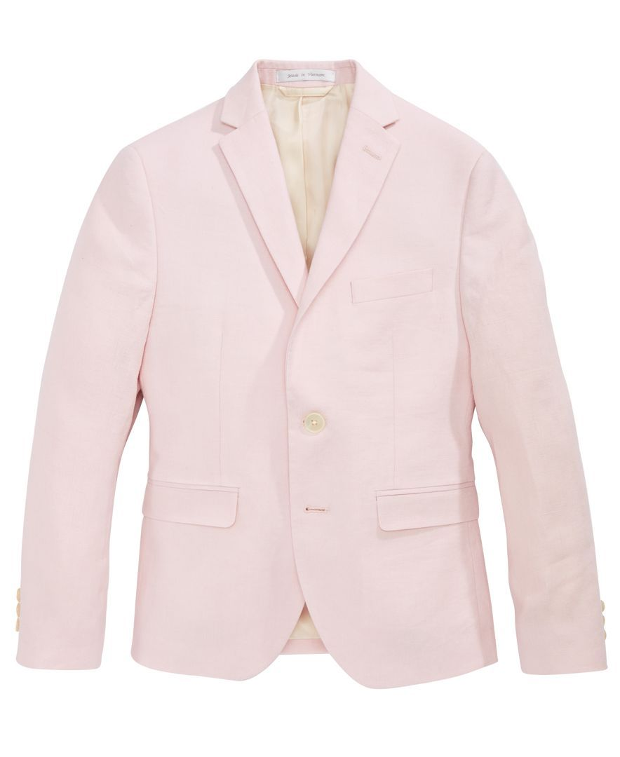 d736870a Lauren Ralph Lauren Pink Linen Suit Jacket, Big Boys | Uniform ...