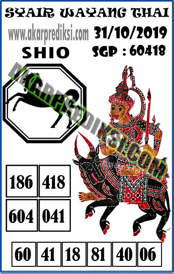 SYAIR TOGEL SINGAPORE 31 OKTOBER 2019 POHON4D Permainan