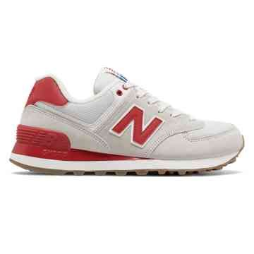 new balance 574 red and white