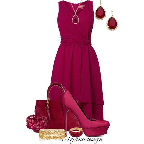 Woven Wrap Dress by arjanadesign on Polyvore