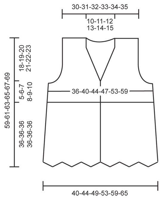 Chaleco de punto DROPS con patrón de zigzag en   tejido a dos agujas ...