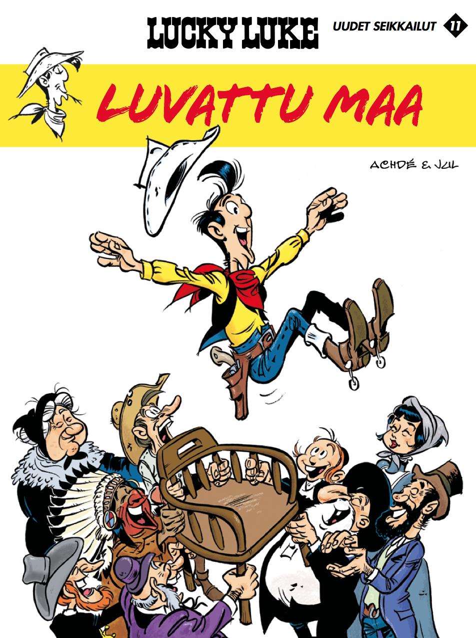 Uunituore Lucky Luke lehtipisteissä ja kirjakaupoissa 15.3.2017! #sarjisparhaus #LuckyLuke #villilänsi #hostoria