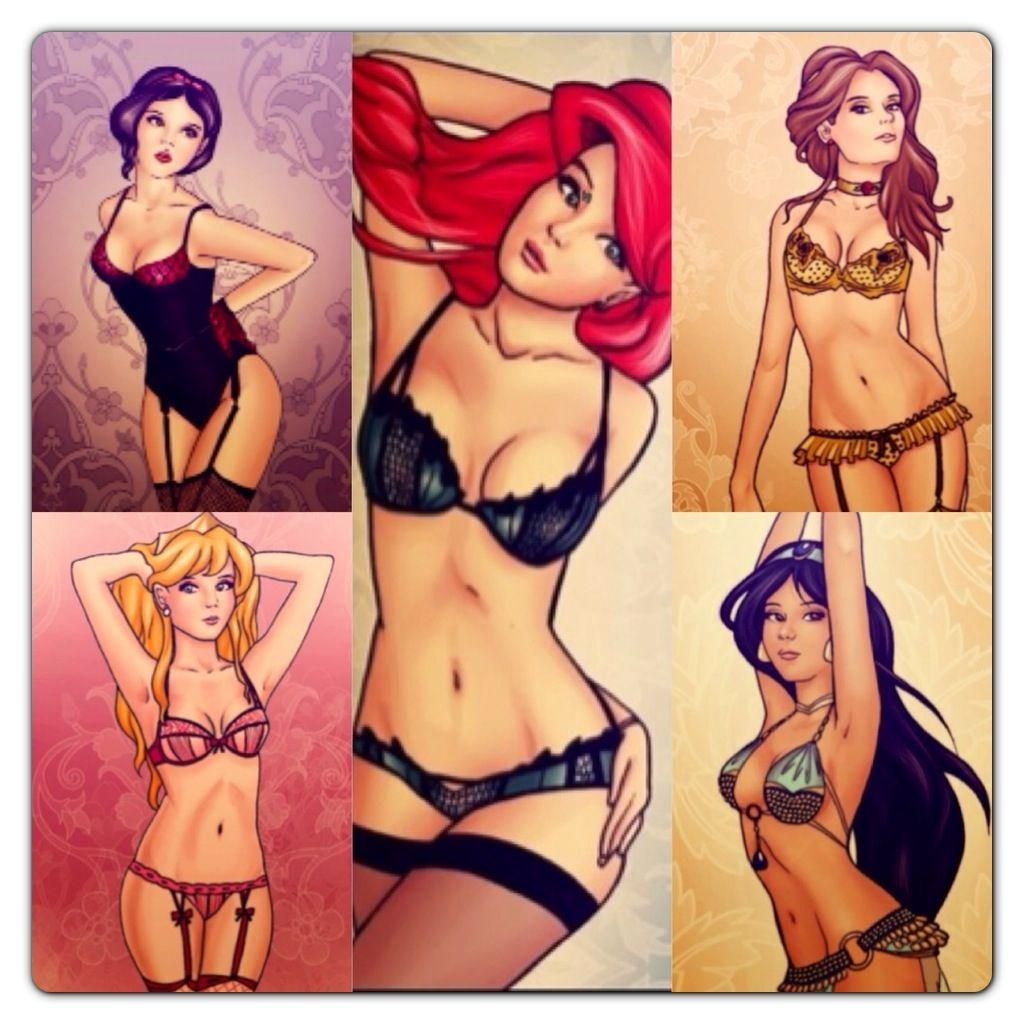 up Sexy pin girls princess disney