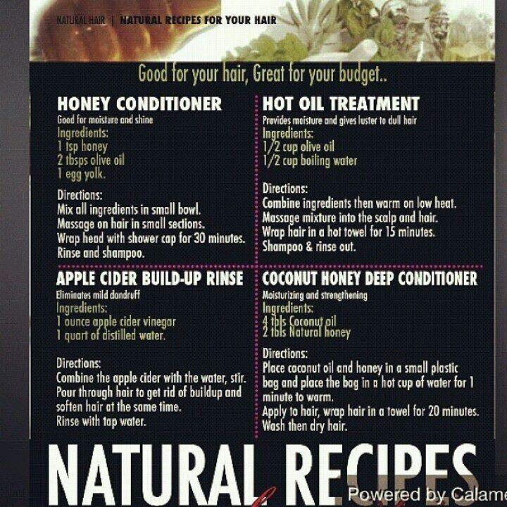 Hair recipes Natural hair recipes, Natural hair styles