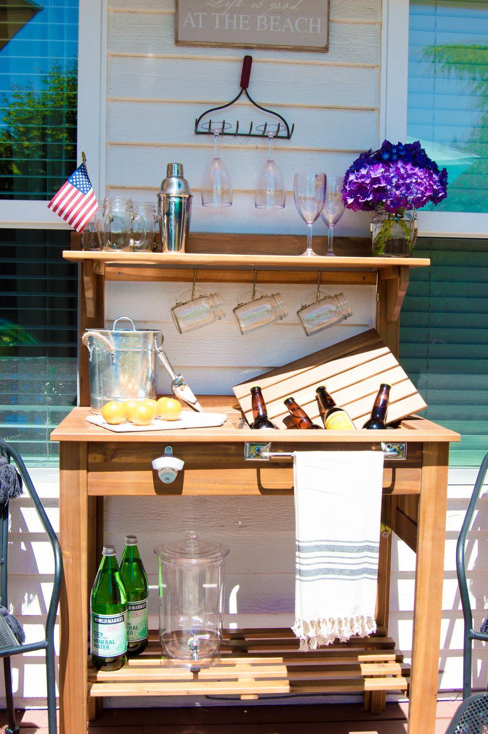 Diy outdoor bar cart diy outdoor bar outdoor bar cart