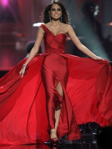 2017 Miss Universe Celebrity Dresses Sheath One-shoulder Floor ...