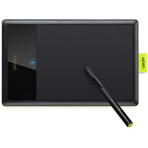 wacom bamboo splash digital tablet black lime i want this tech
