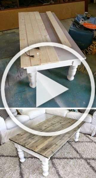 Farmhouse Coffee Table Makeover