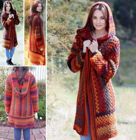 Crochet Hooded Jacket Pattern Free Video Tutorial | Free pattern ...