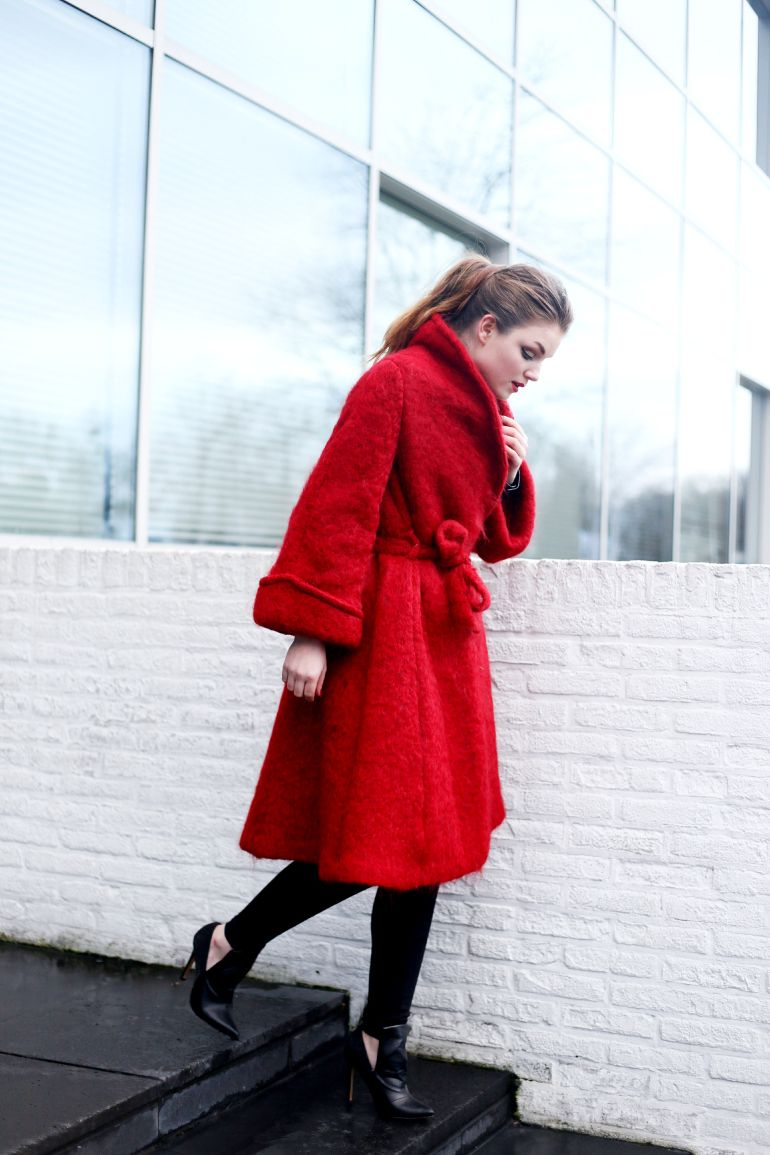 rode wollen rok