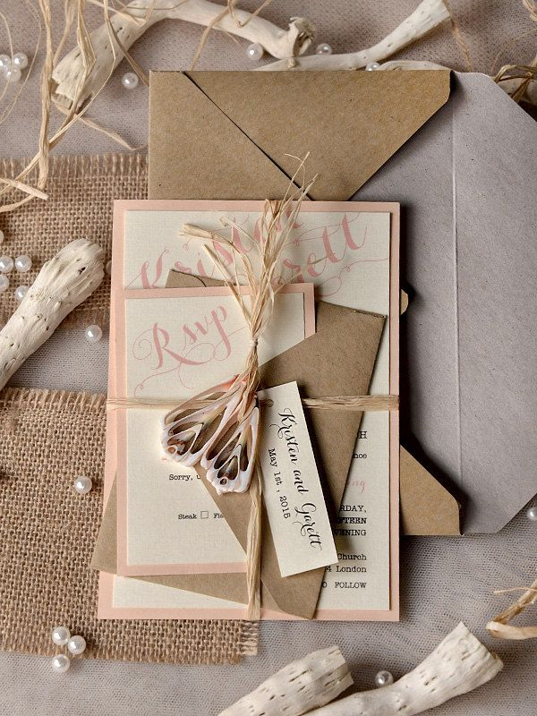 Mod Finds Rustic Chic Wedding Invitations