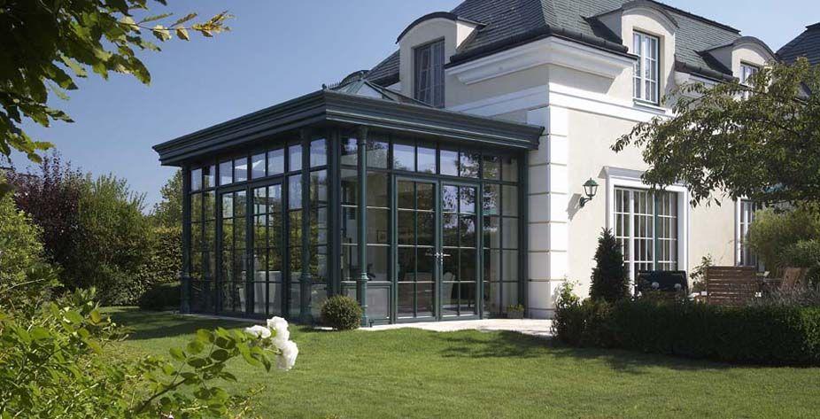 Keller orangerie elegance combinazione di tetto piano e for Piani tetto veranda protette