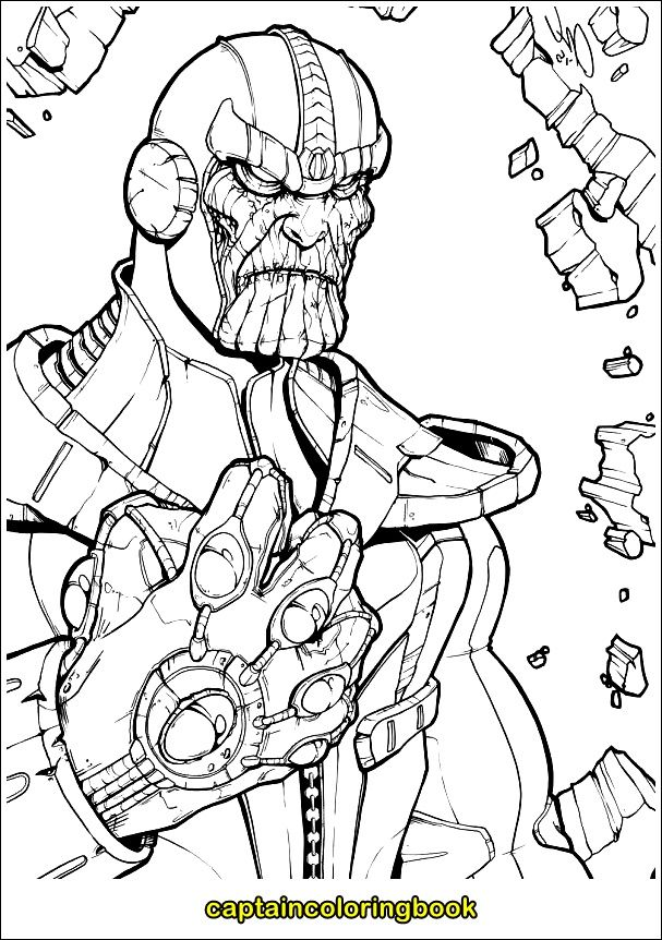 Thanos Coloring Page in 2020 | Coloring pages, Kids ...