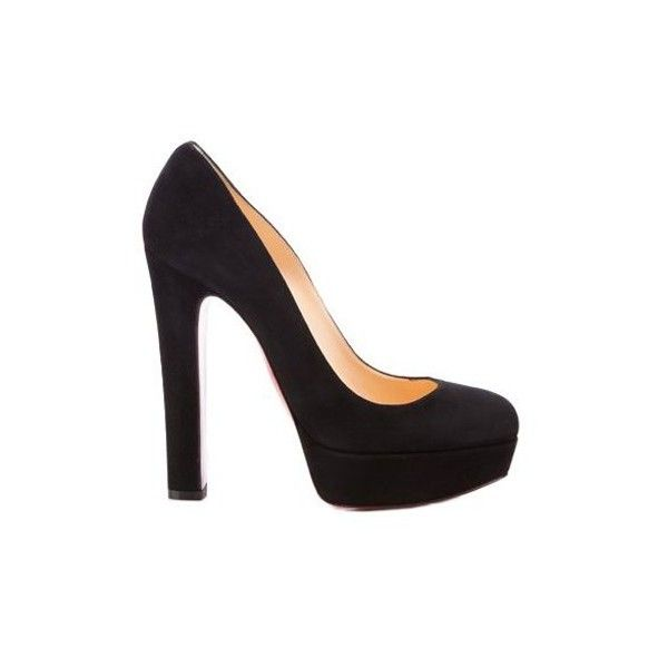 042cba0058b1 Christian Louboutin Bibi 140 Suede Pumps Black - Christian Louboutin Shoes  Sale