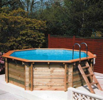 Plastica Octagonal Wooden Pool 4m: Click For Larger Image