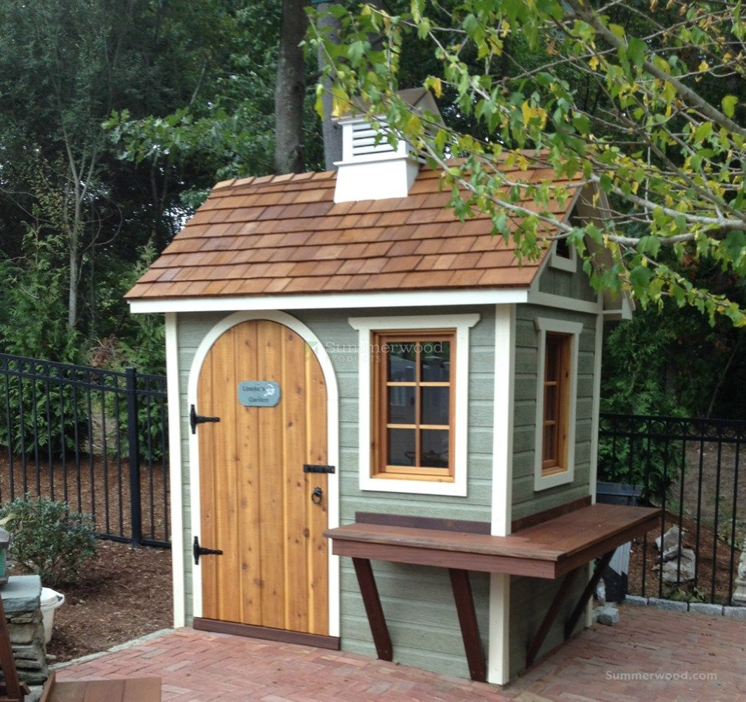 small wooden garden sheds