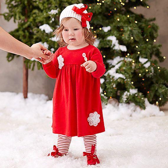 Awesome Christmas Dress Baby Girl Christmas Dress, Red Xmas Dress