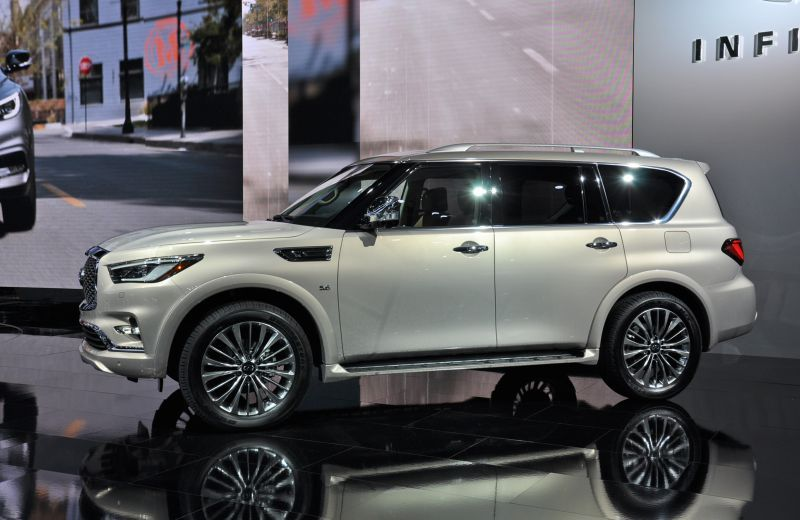 2018 infiniti qx80 gets a nose job and new legs luxury suv cars rh pinterest com
