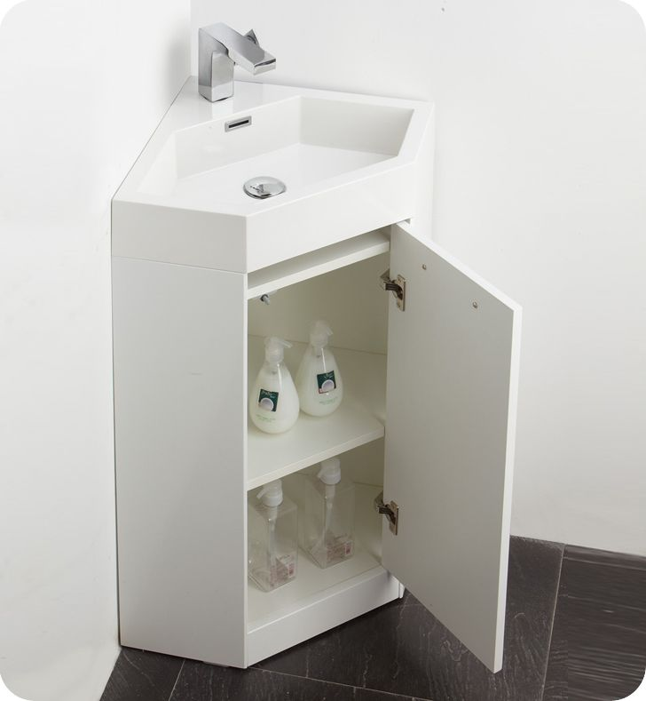 Bathroom Vanities Fresca Coda Bathroom Vanity White Modern - Bathroom corner sinks and vanities for bathroom decor ideas